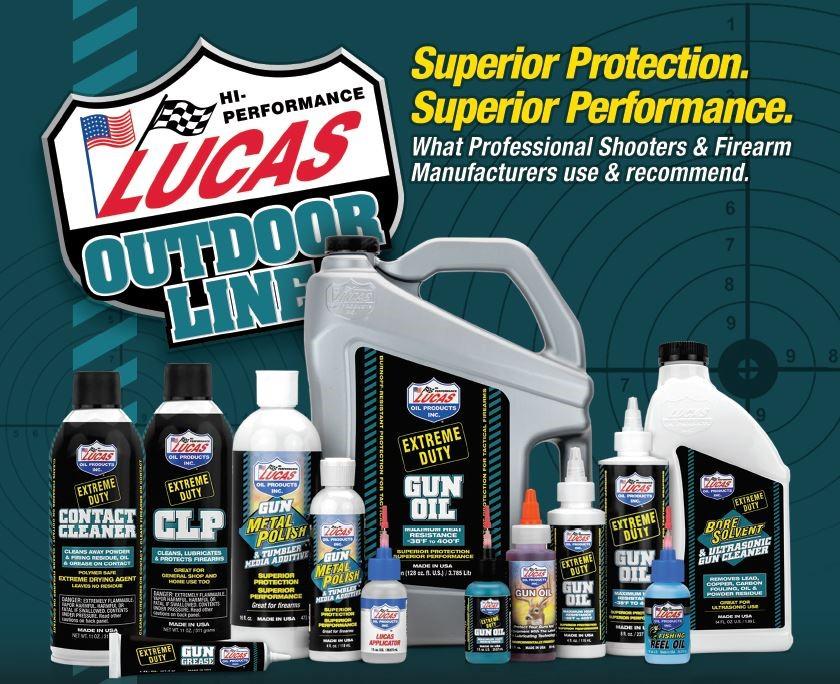 Lucas Oil Outdoor Line Joins OpticsPlanet