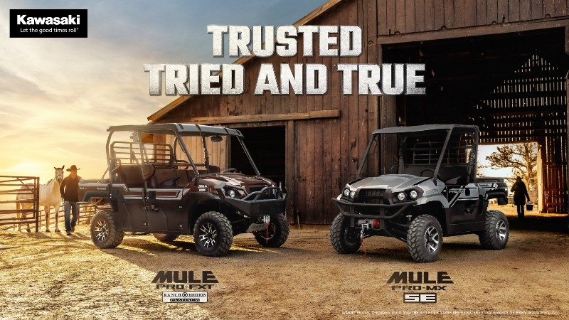 KAWASAKI ANNOUNCES THE NEW MULE PRO-FXT™ RANCH EDITION PLATINUM AND MULE PRO-MX™ SE SIDE X SIDES